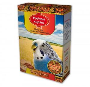 Корм дляволнистых попугаев «с орехами»