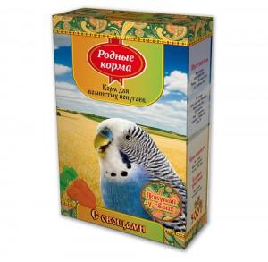 Корм дляволнистых попугаев «с овощами»