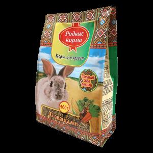 Корм родные корма длякроликов «с овощами»