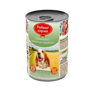 Консервы длясобак «скоблянка мясная по-городецки» 410 гр и970 гр