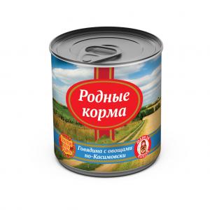 Консервы длясобак Родные корма говядина совощами по-Касимовски, 525 гр