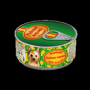 Консервы длясобак «Родные корма знатные сягненком» 100 гр