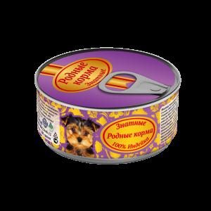 Консервы длященков «Родные корма знатные синдейкой» 100 гр
