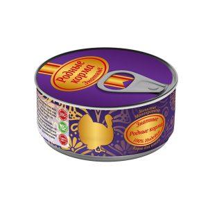 Консервы длякошек «Родные корма знатные синдейкой» 100 гр
