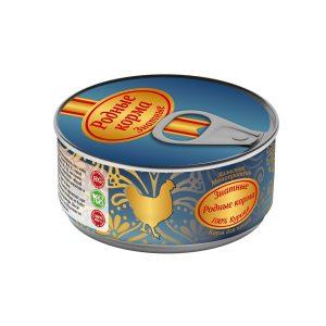 Консервы длякошек «Родные корма знатные скурицей» 100 гр