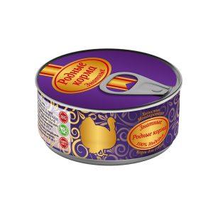 Консервы длясобак «Родные корма знатные синдейкой» 100 гр