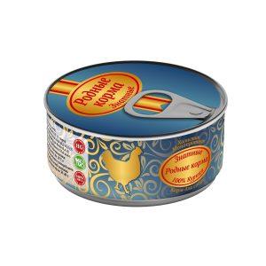 Консервы длясобак «Родные корма знатные скурицей» 100 гр