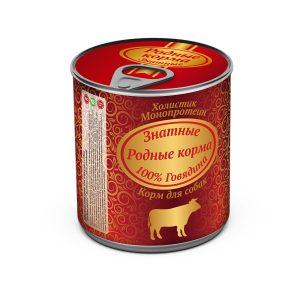 Консервы длясобак «Родные корма знатные сговядиной» 340 гр