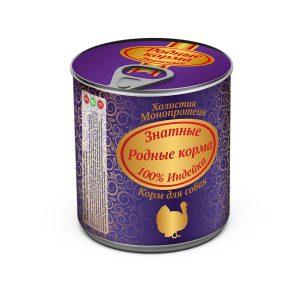 Консервы длясобак «Родные корма знатные синдейкой» 340 гр