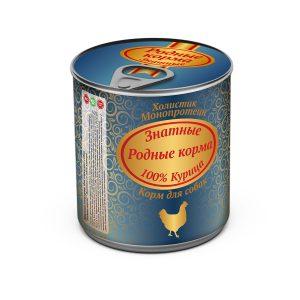 Консервы длясобак «Родные корма знатные скурицей» 340 гр