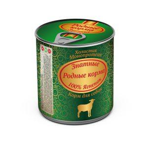 Консервы длясобак «Родные корма знатные сягненком» 340 гр