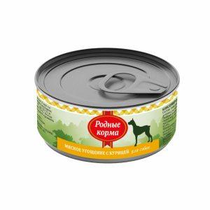 Родные корма Мясное угощение сКурицей длясобак 100 гр