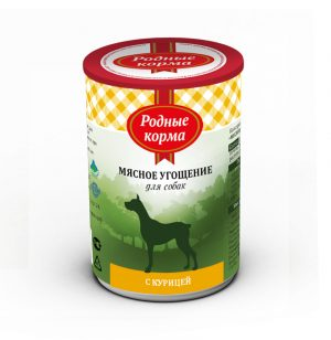 Родные корма Мясное угощение сКурицей длясобак 340 гр