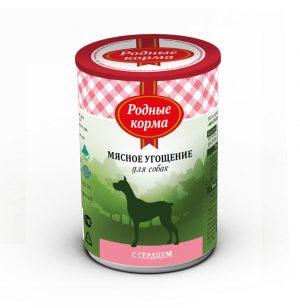 Родные корма Мясное угощение сСердцем длясобак 340 гр