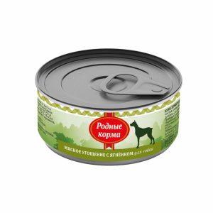 Родные корма Мясное угощение сЯгненком длясобак 100 гр