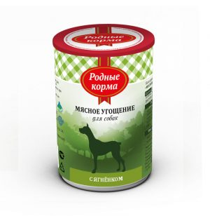 Родные корма Мясное угощение сЯгненком длясобак 340 гр