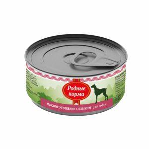 Родные корма Мясное угощение сЯзыком длясобак 100 гр