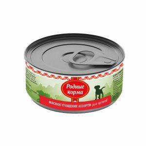 Родные корма Мясное угощение Ассорти длященков 100 гр