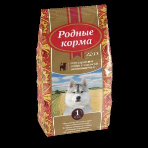 РОДНЫЕ КОРМА сухой корм длявзрослых собак свысокой активностью, 1 Пуд, (16,38 кг) и5 Русских фунтов (2,045 кг)