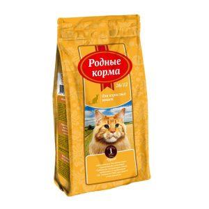 РОДНЫЕ КОРМА сухой корм длявзрослых кошек КУРИЦА 26/12 1 Фунт (0,409 кг)