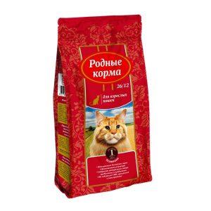 РОДНЫЕ КОРМА сухой корм длявзрослых кошек ТЕЛЯТИНА 26/12 1 Фунт (0,409 кг)