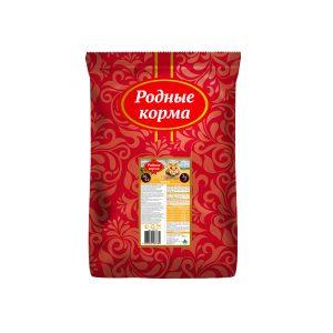 РОДНЫЕ КОРМА сухой корм длявзрослых кошек КУРИЦА 26/12 3/5 Пуда (10 кг)