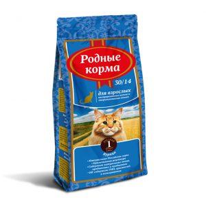 РОДНЫЕ КОРМА сухой корм длявзрослых кастрированных котов истерилизованных кошек, 1 Фунт (0,409 кг)
