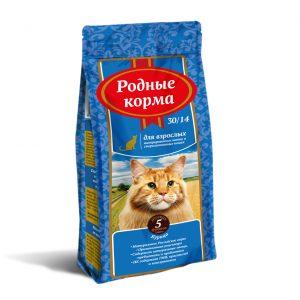 РОДНЫЕ КОРМА сухой корм длявзрослых кастрированных котов истерилизованных кошек, 5 Фунтов (2,045 кг)