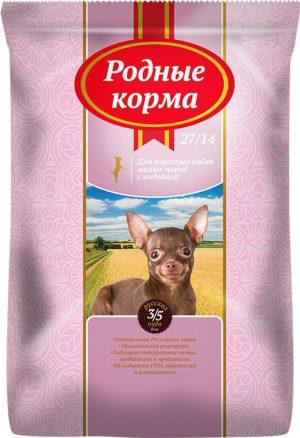 РОДНЫЕ КОРМА сухой корм длявзрослых собак малых пород, 3/5 Пуда (10 кг)