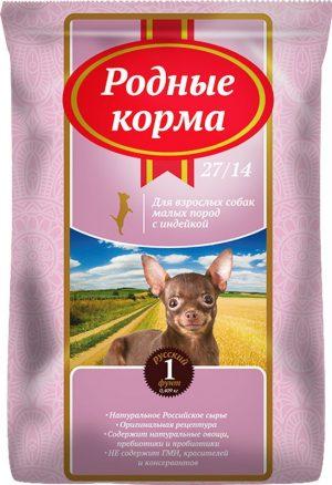 РОДНЫЕ КОРМА сухой корм длявзрослых собак малых пород, 1 Фунт (0,409 кг)