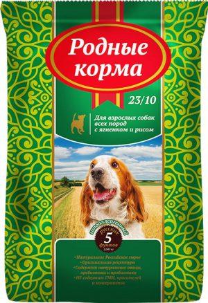 РОДНЫЕ КОРМА сухой корм длявзрослых собак ягненок ирис, 5 Фунтов (2,045 кг)