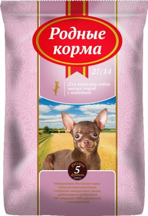 РОДНЫЕ КОРМА сухой корм длявзрослых собак малых пород, 5 Фунтов (2,045 кг)