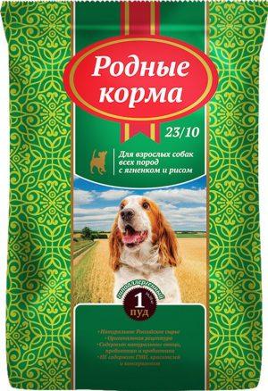 РОДНЫЕ КОРМА сухой корм длявзрослых собак ягненок ирис, 1 Пуд (16.38 кг)