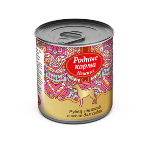 Родные корма «Нежные» длясобак «Рубец говяжий», 240 гр