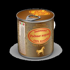 РОДНЫЕ КОРМА Знатные, конина длясобак, 340 гр