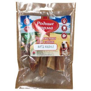 Лакомства РОДНЫЕ КОРМА длясобак мелких пород, аорта говяжья сушеная, вдровяной печи, 35 гр