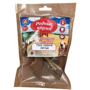 Лакомства РОДНЫЕ КОРМА длясобак мелких пород, рубец говяжий сушеный, вдровяной печи, 35 гр