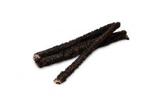Лакомства РОДНЫЕ КОРМА длясобак мелких пород, рубец говяжий, сушеный вдровяной печи, (темный), 35 гр