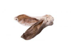 Лакомства РОДНЫЕ КОРМА длясобак, уши кроличьи, сушеные вдровяной печи, 2 шт