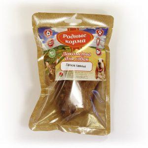Лакомства РОДНЫЕ КОРМА длясобак мелких пород, легкое говяжье сушеное, вдровяной печи, 35 гр