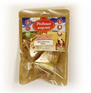 Лакомства РОДНЫЕ КОРМА длясобак, хрящ лопаточный говяжий, сушеный вдровяной печи, 70 гр
