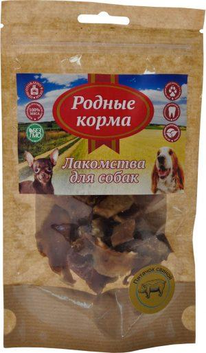 Лакомство РОДНЫЕ КОРМА Пяточек свиной ломтики сушеные впечи