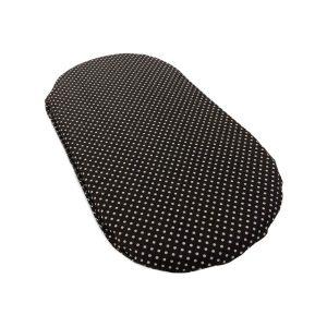 Родные места подушка дляпластикового лежака Черная вгорошек